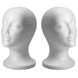New Practical White Foam Female Mannequin Head Hair Wigs Glasses Cap Display Holder Stand Model Mannequin Hat Stand Styrofoam