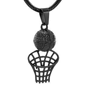 IJD10522 BIJOUTERIE CRÉMATION HUMAINES - Funérailles Urne Ashes Titulaire de basket-ball forme collier noir Tone Boy Memorial Médaillon pour Son