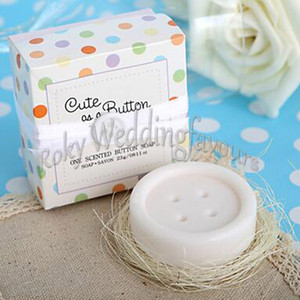 """20PCS Button Scented Soap Favors """"Cute as a Button"""" Soap Gifts Baby Shower Ideas Cute and Lovely Party Gifts"""