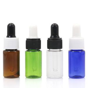 10ml PET Bottiglia di profumo di olio essenziale Reagente liquido Bottiglie di pipetta Contagocce Bottiglia Verde Blu Bianco e Ambra