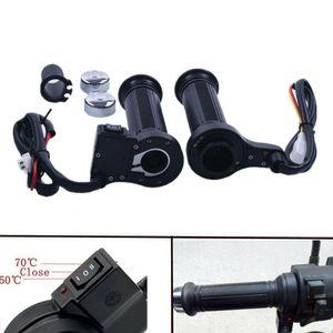 1Pair 12V Motorcycle handlebar Electric Hot Heated Grips Handle Handlebar Warmer Manillar Universal Motorbike Heating Handle