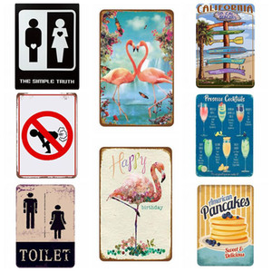 Warning Vintage Metal tin Signs For Wall Decor Rock Music Iron Paintings 20 * 30cm Signs Tin Plate Pub Garage Retro Home Decoration