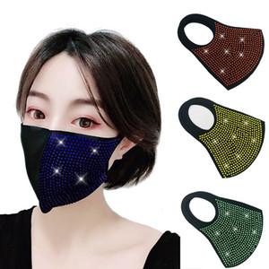 النساء الملونة الجديدة التألق الوجه قناع الغبار أقنعة حزب قناع المد 4 لون مصمم الشمس قناع T2I5932