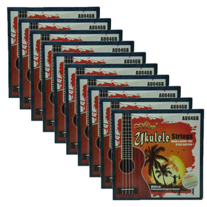 10Sets Alice barítono Ukulele Strings Modificado Nylon plateado EBGD AU046B