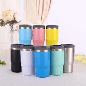 Neues Design Tasse direkter Verkauf der Fabrik 14 Unzen doppelwandige Edelstahlbierbecher vakuumisolierte Bier kann Zuhaltung zwei Deckel Option Kühler