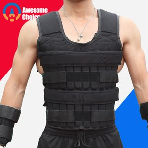 30KG Peso di caricamento della maglia per la boxe pesi allenamento Fitness Gym Equipment regolabile Giacca Gilet Sand Abbigliamento T191212