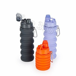 nova Creative folling Water Bottle sílica gel Fold Telescopic Tumbler Sports cup Bebing Cups Fit Caminhing Camping Drinkware T2I5391