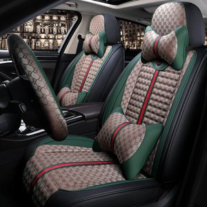 Car seat cover Leather+ Linen material seat cover For mitsubishi Honda Toyota BMW Nissan Mazda DS covers for vehicle protect seats