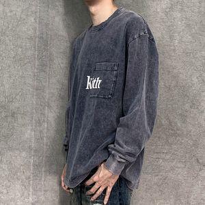 Le 2020ss Real Pics dongguan_ss couleur foncé T-shirts Mode printemps T-shirt à manches longues impression Oversize T-shirt décontracté