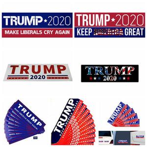 Trump 2020 Car Stickers 11 Styles Donald Trump DIY Keep America Great PVC Car Sticker Styling Bumper Decoration OOA8164