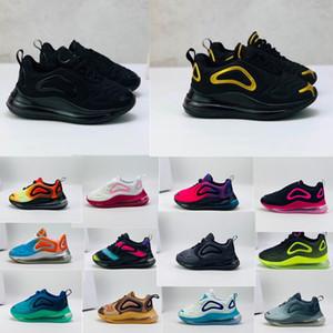 Nike Air Max 720 Enfants 72c infantile Chaussures de course NOIR ANTHRACITE Loup gris Garçons Filles Enfants Coussin de jogging Chaussures de sport Multicolore