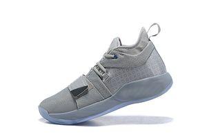 Новое поступление мальчиков PG 2.5 PlayStation Shoes Wolf Grey высочайшее качество Пол Джордж 2.5 Детские мужчины женщины баскетбол размер US7-US12