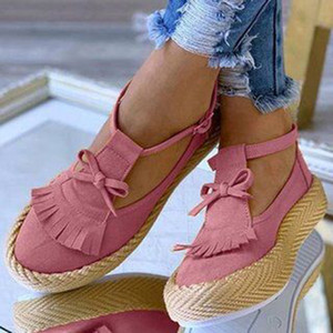 2020 Hot Sale hollow out Women Sandals Buckle Strap Flock Summer Shoes Chaussures Femme Flat Platform Sandalias Shoes Fashion 43