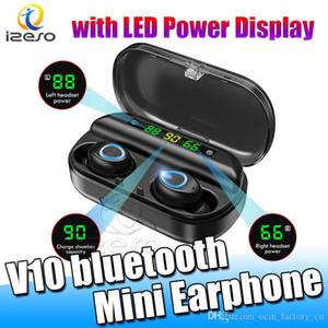 V10 Headsets 8D Stereo-HiFi-Ton Quility TWS Bluetooth Kopfhörer Tragbare Business Design-Kopfhörer mit Mikrofon LED-Anzeige Freegate