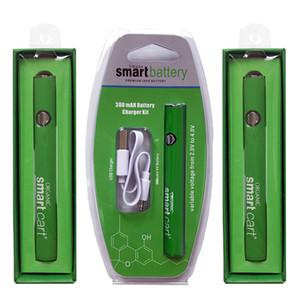 Cartuchos de aceite para el cargador de batería inteligente de la compra 380mAh Voltaje 510 VV Variable de rosca de la batería de precalentamiento El precalentamiento Vape Pen Baterías inferior USB