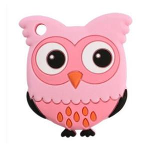 Gufo del bambino Succhietti silicone molare Stick Owl Cartoon Soother Teether dentizione Sicurezza bambini Chews denti Stick 4 colore da scegliere CFYZ115Q