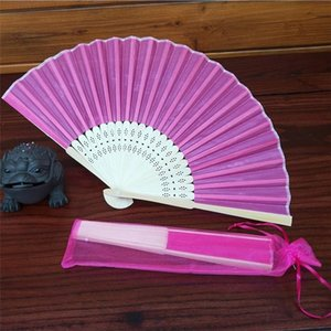 Realizada Fan Colorful Folding Estilo Chinês Mão Fan Bamboo Silk Folding Fan Wedding Party Decor Dropshipping junho # 6