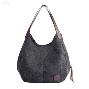 Large Capacity Womens Handbags Shoulder Big Tote Bags High Quality 2020 Soft Canvas Ladies Womens Purses And Hand Bags Sac