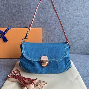 Dril de algodón bolsa de mano bolso de la mujer de moda bolsa de hombro del mensajero del bolso de la señora Crossbody bolso de las mujeres de guata de Carteras