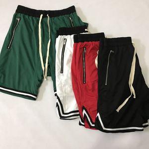 Уличная мода хип-хоп мужские дизайнерские шорты туман Джастин Бибер прилив модели свободные ретро спорт над коленом баскетбол шорты брюки