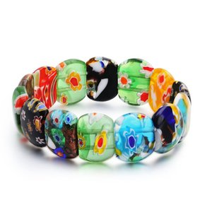 Oblate Shape Glass Beads Loose Spacer Charm Beads Fashion Jewelry Making Accessory Bracelet DIY Free Shipping