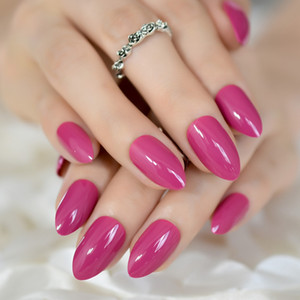 Stiletto Nails Ruby Tuesday Light Rose Rosa Mandel falsche Nägel UV-DIY-Scharf-Spitzen 24 CT