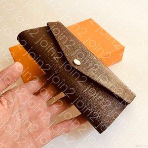 PORTEFEUILLE SARAH PORTAFOGLIO. In stile busta delle donne di modo di alta qualità Titolare Portafoglio Card Case Iconic Brown impermeabile della tela di canapa M60531 Sac