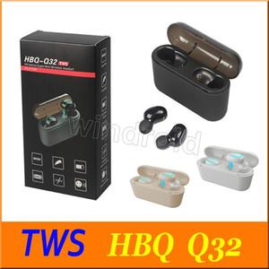 HBQ Q32 TWS Ture Kablosuz kulaklıklar Bluetooth 5.0 Kulaklık Mic Ile Mini Twins Oyun Kulaklık Su Geçirmez Kulaklık Şarj Kutusu ile Akülü