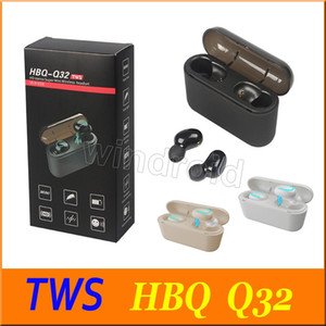 HBQ Q32 TWS تلح سماعات لاسلكية بلوتوث 5.0 سماعة مع مايكروفون البسيطة التوائم الألعاب سماعة ماء ياربود اللاسلكي مع صندوق الشحن