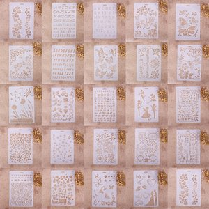 Diversi modelli Aerografo Pittura Stencil Decorazioni per la casa fai-da-te Scrapbooking Album Craft Art Cutting Dies Chrismas Wedding DIY Cards Tool