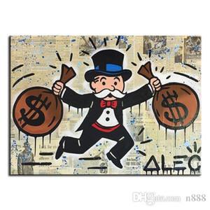 """Handpainted HD Alec Tekel """"Çift Paketi Idea"""" Grafiti Sanatı yağı Tuval Ev Dekorasyonu Wall Art Çoklu Boyut G247 200.313 üzerinde boyama yazdır"""