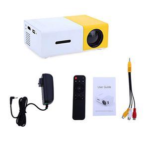 YG300 بروجكتور صغير محمول LCD 320 × 240 بكسل الصوت / HDMI / USB / SD مدخلات العارض جيب الوسائط للمنزل والترفيه