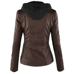 Women Casual Jackets 2020 New Arrival Fashion Solid Color Coats Womens Designer Slim Hip Hop Streerwear Women Casual Motorcycle Top Quality
