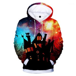 Designer cappuccio Pumpkin 3D digitale Stampato Hoodies del Mens Fashion Festival Coppie di corrispondenza vestiti Halloween Party Womens