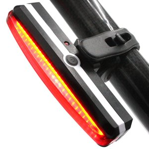 Weatherproof Bright USB Rechargeable Bike Daytime Tail Light Bicycle Rear Lights Red Cycling Road Safety Back Helmet Light
