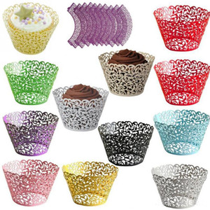 Cupcake Wrapper Cup Cake Wrapper Cartuccia Pizzo Laser cut Cake Paper Cup Cupcake Wrapper Wedding Party Cake baking Cup holder