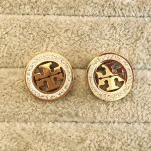 New Gold-Farben-Frauen Fashion Jewelry Top-Qualität-Party-Geschenke Ohrringe Hip Hop-Bolzen-Ohrringe Goldrosen-Ohrringe für Frauen-Bolzen Klassische Hoop