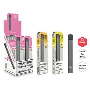 La meilleure qualité BIDI bâton dispositif à usage unique Pod Ecig Starter Kit 280mAh cartouches de batterie de Vape Pen Puff Bar MR plus VAPOR