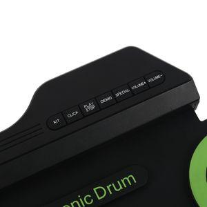 Pedal ABGZ portátiles de batería electrónica digital USB 7 Pads Enrollar Grupo de percusión de silicona eléctrica Drum Pad Kit con baquetas Pie