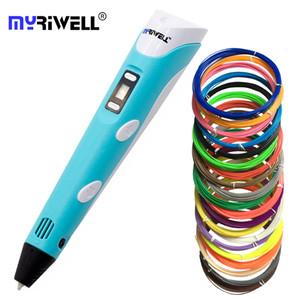 Myriwell Original RP-100B impression 3D stylo 1.75mm ABS Smart 3d stylos dessin avec affichage à LED Filament pour les cadeaux pour enfants