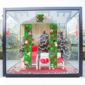 Красочные рождественских ткани Куплеты дверь стена висит знак для сада Открытого Merry Christmas Decoration Баннер стена Подвеска LXL634-1