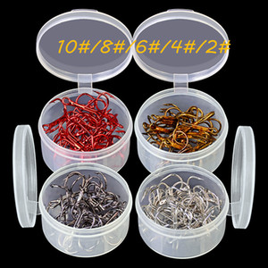 100pcs 5box 5 Sizes Mixed 10#-2# 35647 Triple Anchor Hook High Carbon Steel Barbed Fishing Hooks Pesca Carp Fishing Tackle B14-139