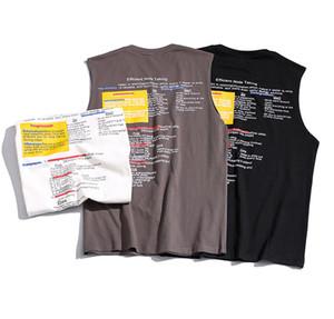 Mens Casual Letter Print Vest Tee Summer Loose Sleeveless High Street T-Shirt Male Modern Fashion Trend Tee