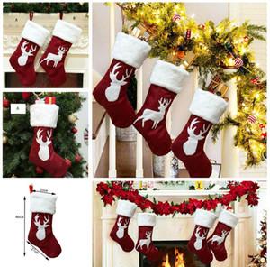 Elk Christmas Candy Trumpf-Geschenk-Beutel Weihnachtsbäume Dekorationen Socken Hanging On Wall Weihnachtsdeko 2 Styles DHL