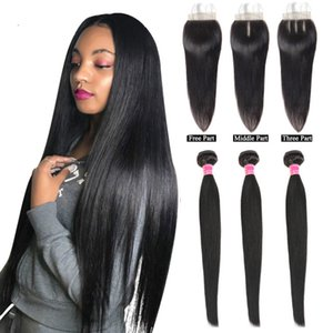 Malaysian Hair Bundles with Closure Straight Hair Bundles with Closure Natural Human Hair Bundles with Closure