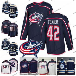 2019 Alexandre Texier Columbus Blue Jackets Трикотажные изделия для хоккея Персонализируйте имя Alternate # 29 Alexandre Texier Сшитые рубашки S-XXXL