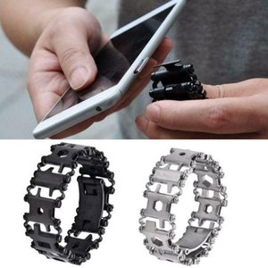 29 in 1 Multi Tool Bracelets Multifunction Repair Bracelet Stainless Steel Screwdriver Wrench Bicycle Camping Emergency Kit
