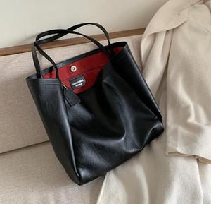 Las mujeres de lujo de gran tamaño Bolso de la señora del diseñador de gran capacidad solo bolso clásico llano de Big Bags de alta calidad de la bolsa de asas