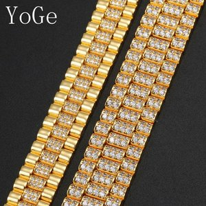 YoGe Statement HIP-HOP Watch Band Bracelet,Fashion Unique Cubic Zirconia Specific Character for Man&Women,HBD092