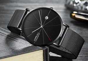 2020 CRRJU 남성 시계 최고 브랜드의 럭셔리 블랙 석영 남성 시계 드롭 배송 메쉬 스트랩 캐주얼 OROLOGI 다 오모 디 Lusso를 automatici